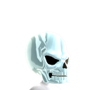 Epic Skull Helmet White Chrome