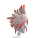 Anime Hero Hair - Red Tips