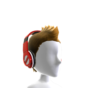 Fauxhawk with Headphones - Red