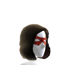 Red Hooded Domino Mask