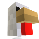 Minecraft Chicken Head