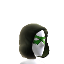 Green Hooded Domino Mask