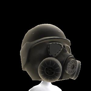 Gas Mask Black 2 Helmet