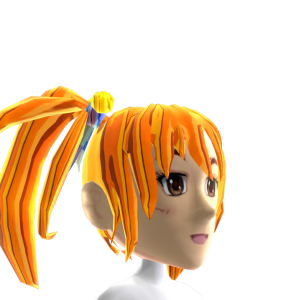 Anime Pigtails Orange Chrome
