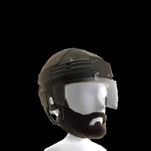 Playoff Beard with Black Helmet