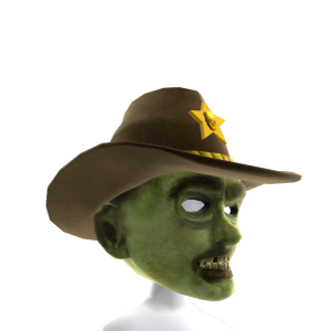 Zombie Mask with Cowboy Hat