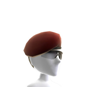 Beret and Sunglasses - Red