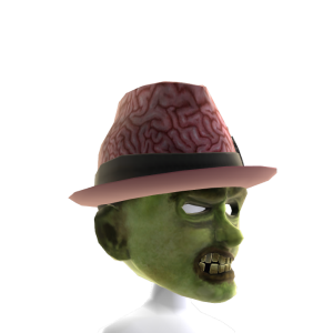 Zombie Mask with Fedora