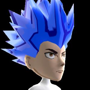 Anime Hero 4 Blue Chrome