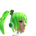 Anime Headphone Green Chrome