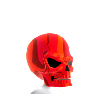 Epic Skull Helmet Red Chrome