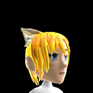 Anime Cat Ear Gold Chrome