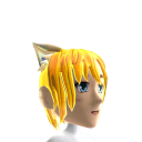 Anime Cat Ear Gold Chrome