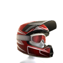 Motocross Helmet - Red