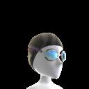 Gorro de natación y gafas
