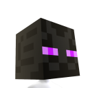 Tête Minecraft enderman