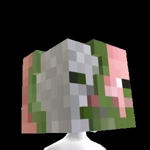 Tête de cochon zombie