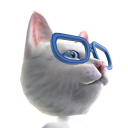 Epic Glasses Cat Helmet