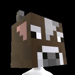 Minecraft 牛ヘッド
