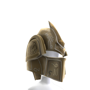 Bright Platemail Armour Helmet