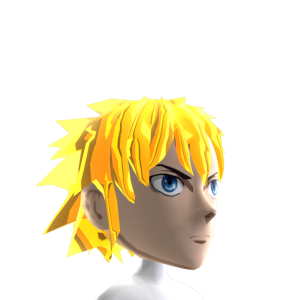 Epic Anime Hero 2 Gold Chrome