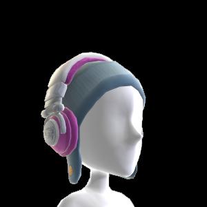 Ti Pink Fur Headphones