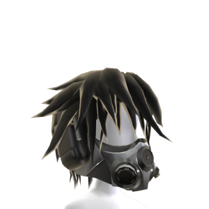 Anime Gas Mask - Black
