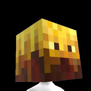 Cabeza de fuego de Minecraft