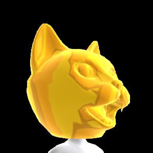 Epic Golden Cat Head