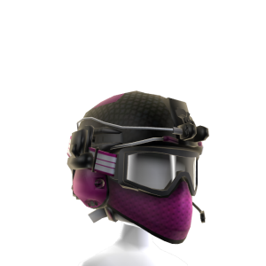 Battle Helmet - Pink White