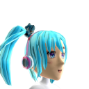 Anime Headphones Aqua Chrome