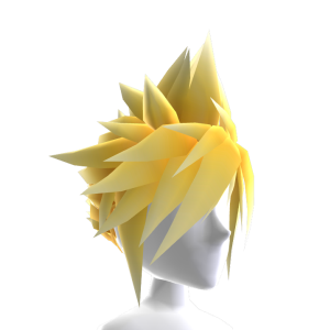 Anime Hero Hair - Fire