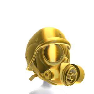 Gas Mask - Gold