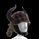 Black Horned Samurai Helmet