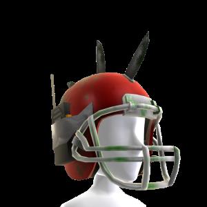 Zombie Battle Helmet - Red