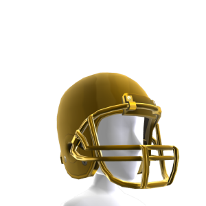 Gold Football Helmet