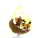 Flaming Pumpkin Head