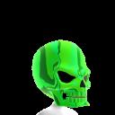 Epic Skull Helmet Green Chrome