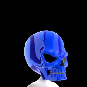 Epic Skull Helmet Blue Chrome