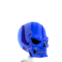 Epic Skull Helmet Blue Chrome