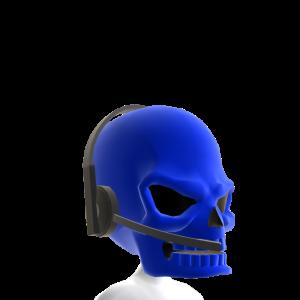 Blue Gamer Skull Helmet