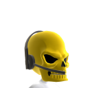 Gold Gamer Skull Helmet