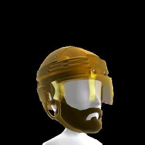 Playoff Beard with Gold Helmet