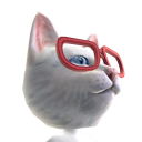 Epic Red Glasses Cat Helmet