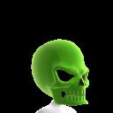 Green Skull Helmet