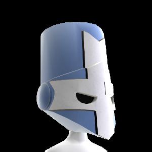 Modrá rytierska helma