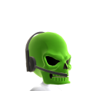 Green Gamer Skull Helmet