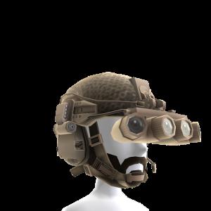 Tan Helmet Beard