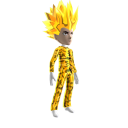 Anime Hero Suit Gold Camo