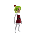 Anime Xmas Green Bow